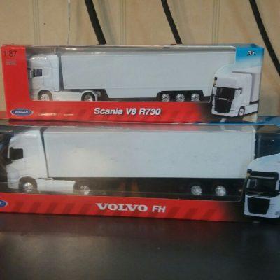 Nya WELLY lastbilar i olika skalor 1.87/ 1.64